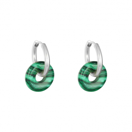 Colorful hoops - green/silver