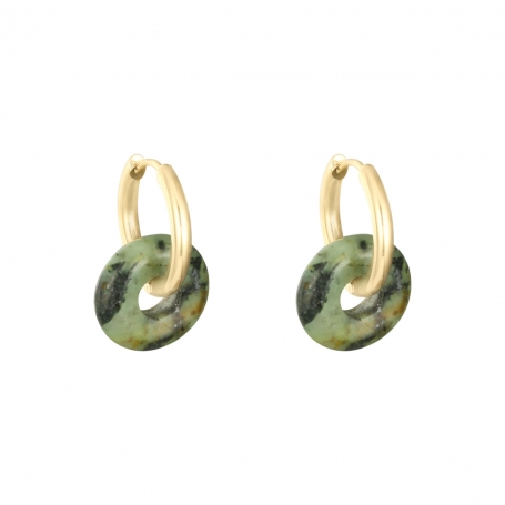 Colorful hoops - army green/gold