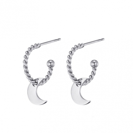 Over the moon earrings - silver