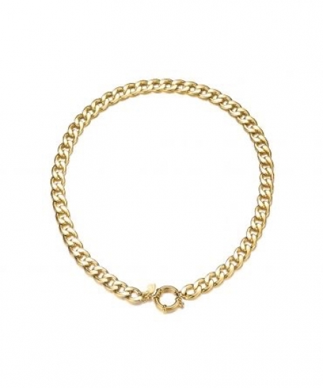 Big chain necklace - gold